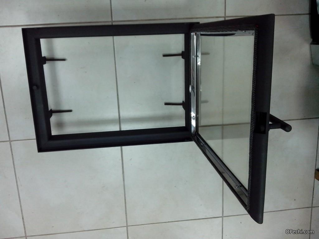Дверца из стекла для камина