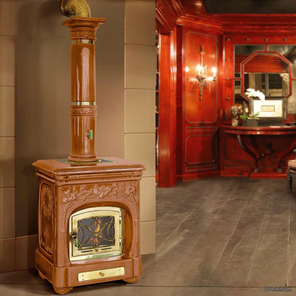 Печь с керамической дверцей