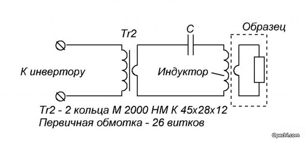 Электрическая схема индукционного нагревателя