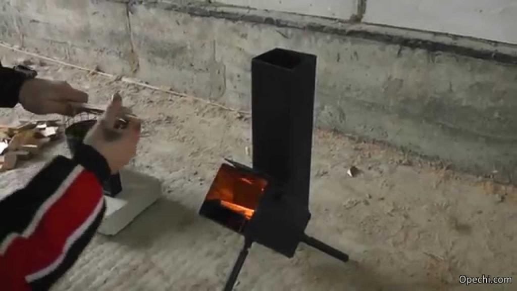 Ракетная печка, изготовленная самостоятельно