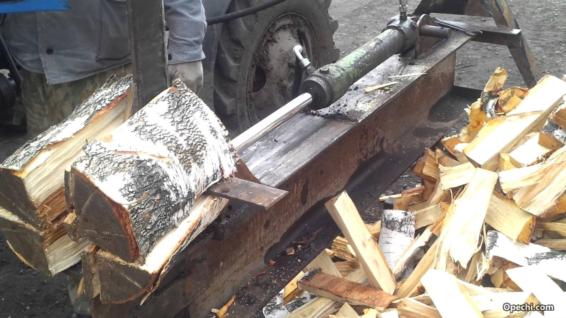 Колка дров без топора своими руками 53