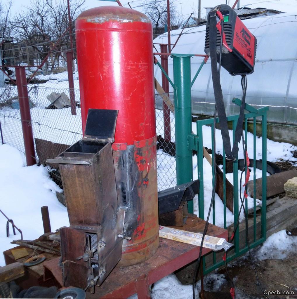 Ракетная печка на дровах своими руками