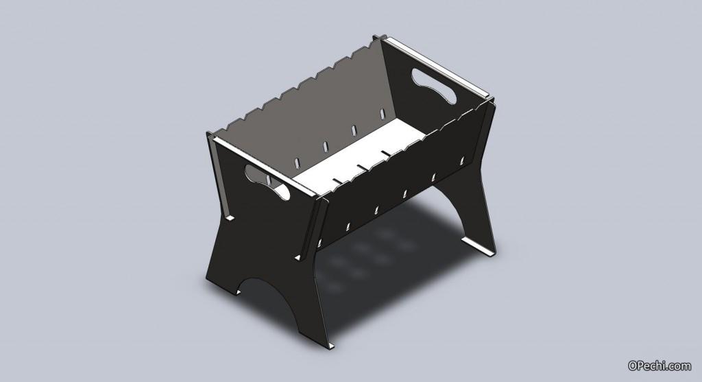 Раскладной мангал-чемодан и мангал-дипломат из металла 70