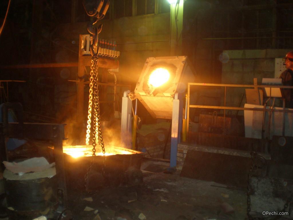 Тигельная печь для плавки металла