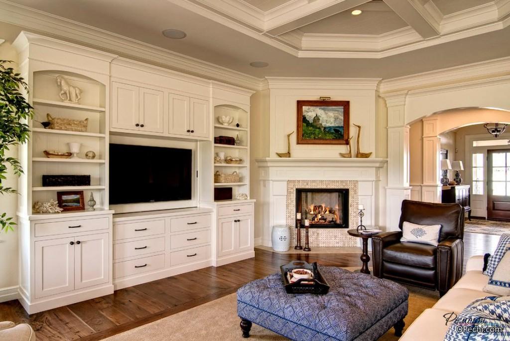 Камин в стиле гостиной прованс