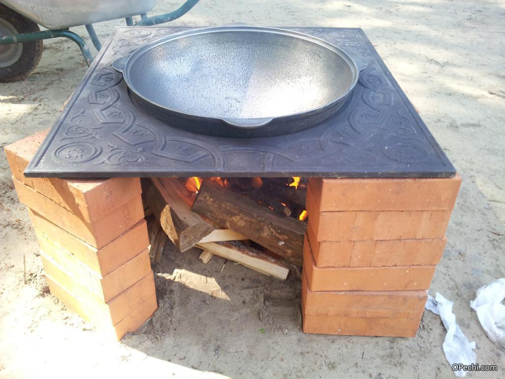 Садовая печь для казана своими руками 749