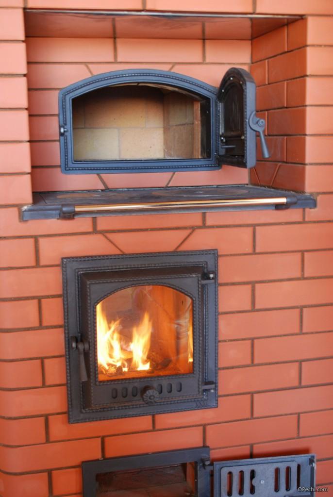Варочная печь Кузнецова с камином