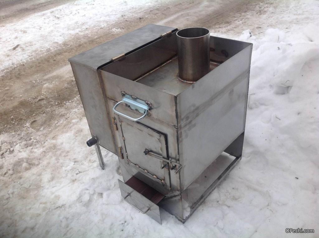 Печь для бани, изготовленная из металла своими руками