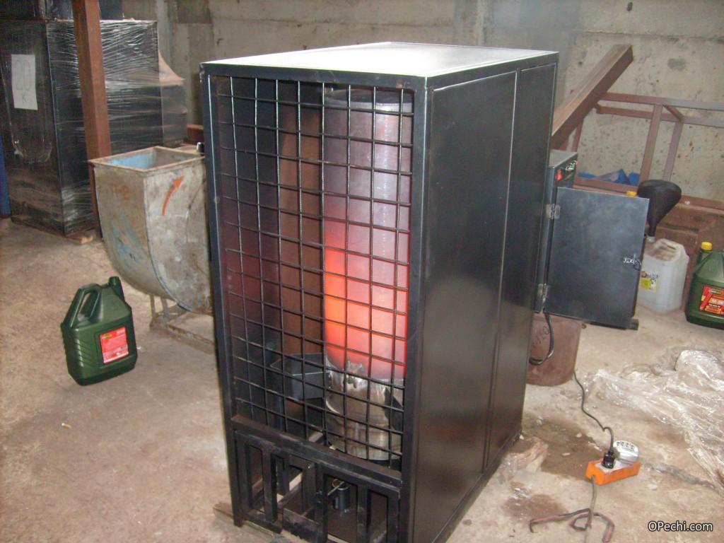 Защищенная печь на отработанном масле