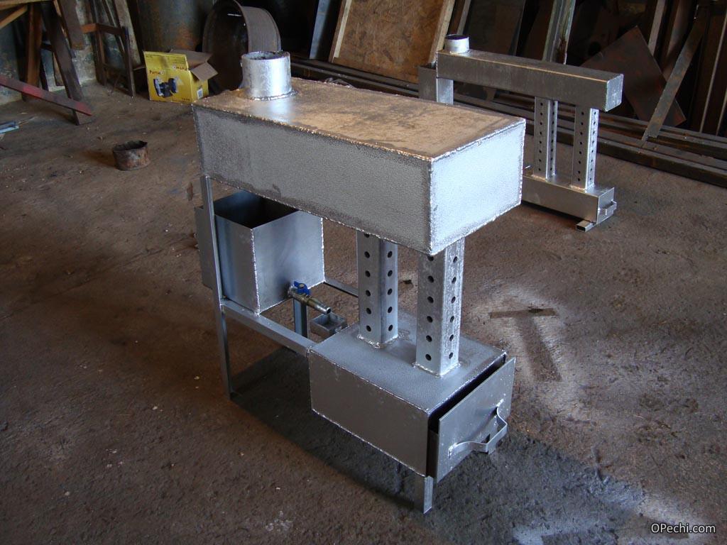 Печь, функционирующая на отработанном масле