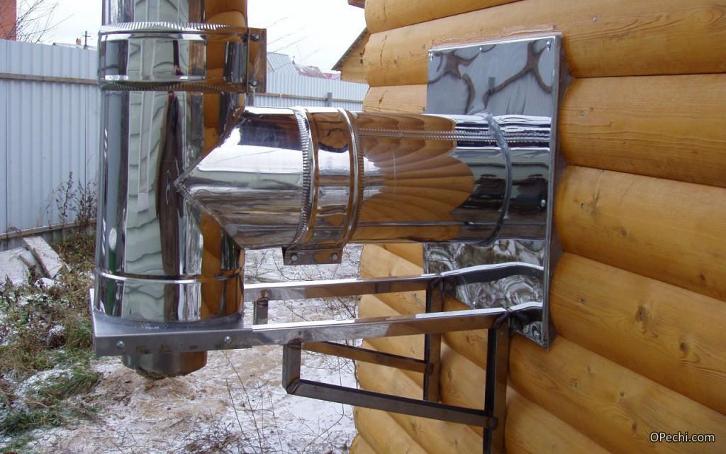 Дымоходы для банные печи правильно установить металлический дымоход