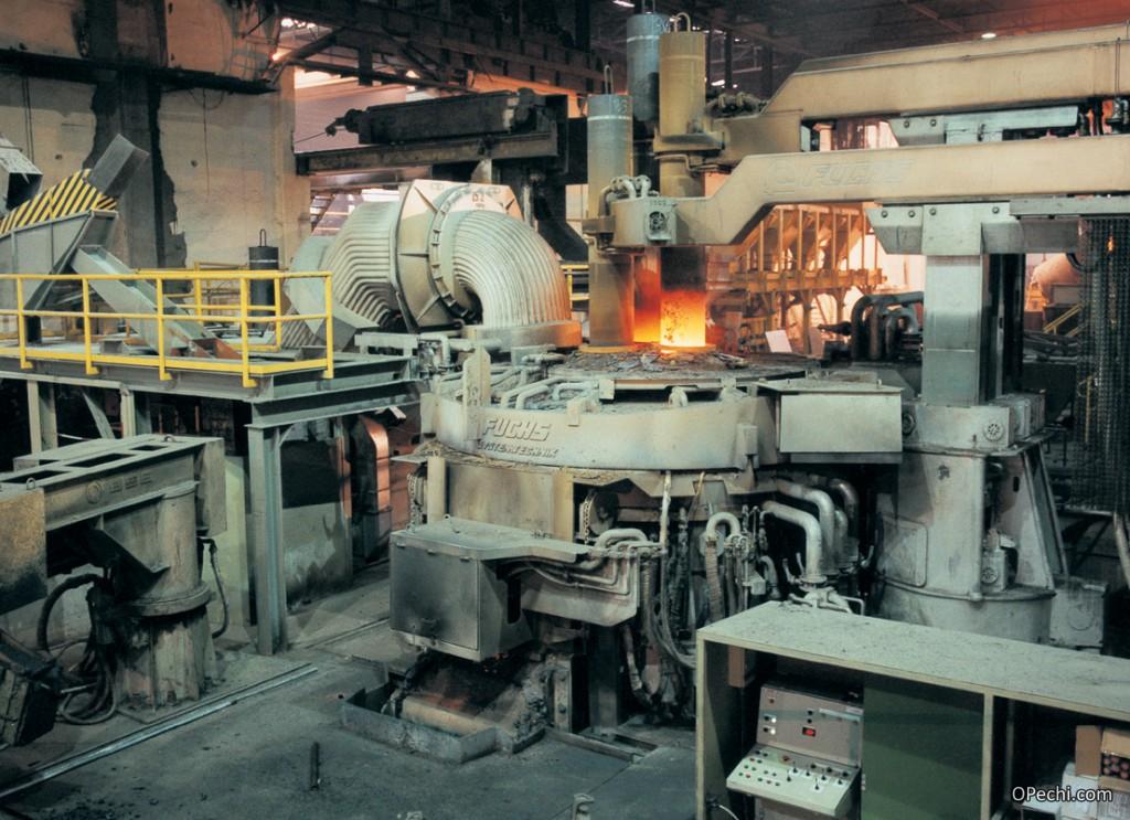 Муфельная печь на металлургическом производстве