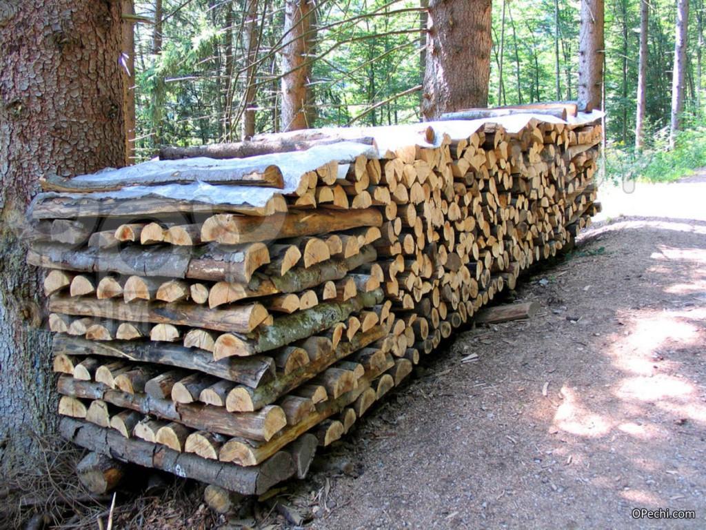 Осиновые дрова для чистки дымохода