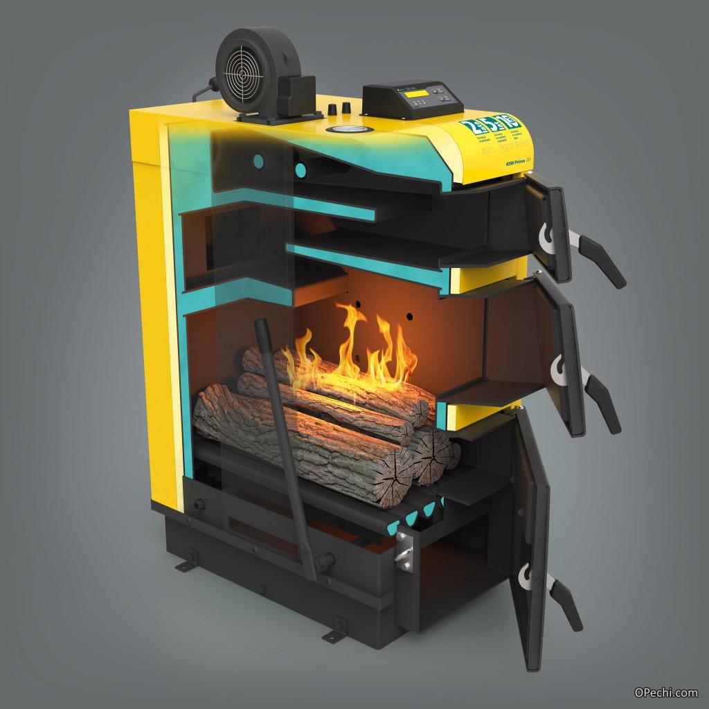Камера сгорания твердотопливного котла