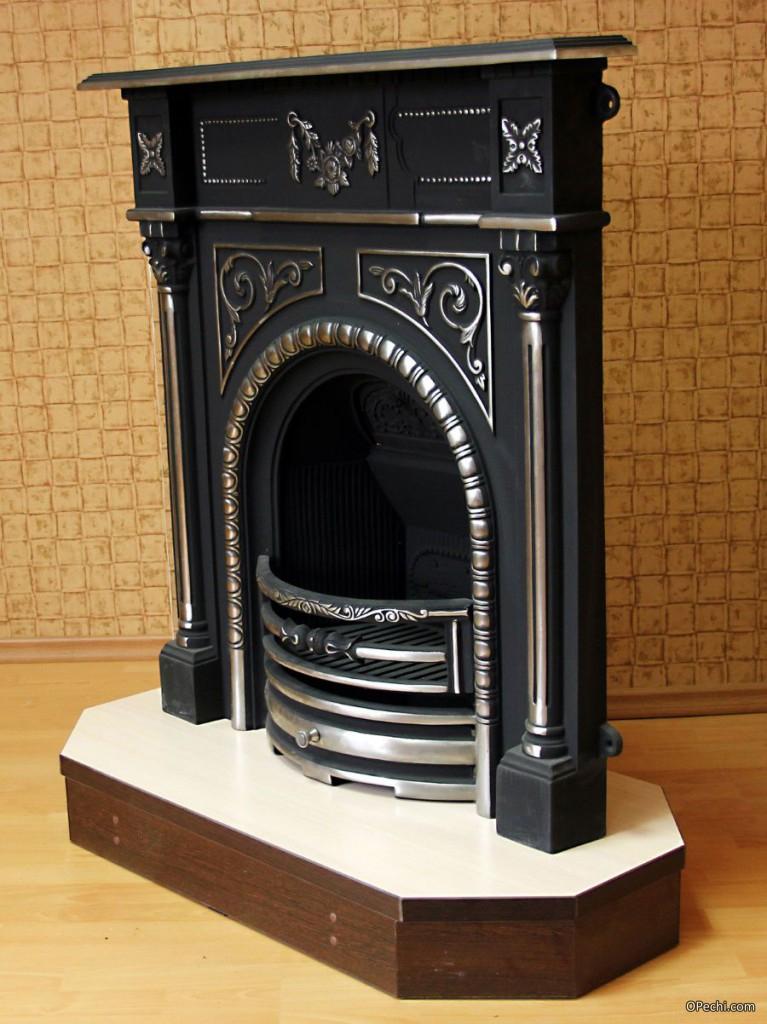 Чугунный портал для камина